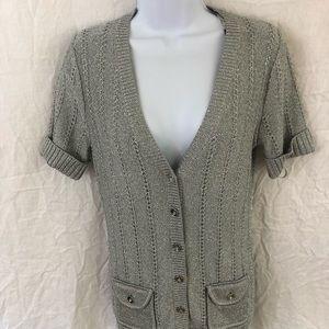 White House black market women's button up sweater